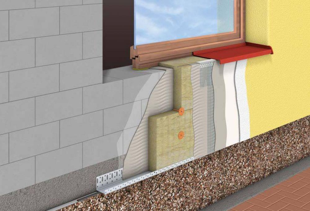 Утепление фасада альпинистами, технология «Мокрый фасад»