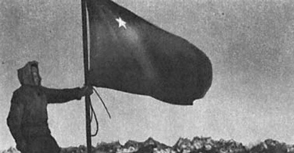 Битва за Кавказ флаг на Эльбрусе