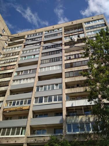 Обшивка балконов Полюстровский 5